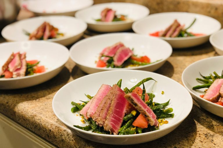 Cured Catering Tuna Dish